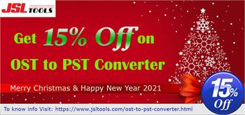 Limited Offer - JSLTools Gives 15% OFF on OST to PST Converter Software