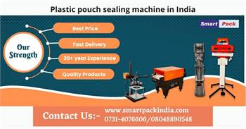 Plastic pouch sealing machine in India