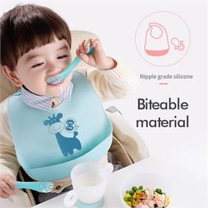 Hot Sale High Quality Waterproof Feeding Silicone Baby Snack Bib Supplier