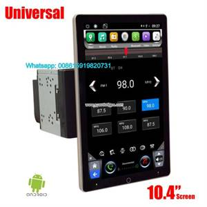"Auto car Universal GPS 2 din 10.1""Tesla Rotating IPS PX6 Android Multimedia Radio WiFi"