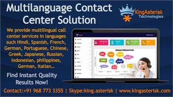 Multilanguage Contact Center Dialer Solutions by Kingasterisk Technologies