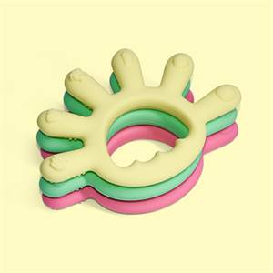 Hot Sell Silicone Baby Teether Toy Sensory Baby Rattle Tethering Ring Supplier