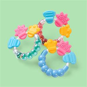 Manufacturer for High Quality Bpa Free Silicone Infant Rattling Teether