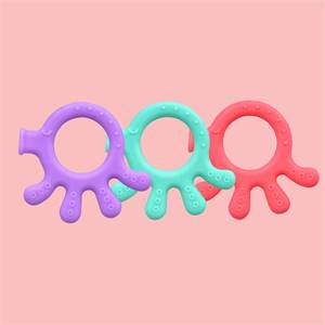 China Manufacturer Free Sample Baby Chewable Teething Toy Silicone Soft for Baby Teeth Natural
