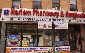Harlem Pharmacy & Surgicals, Lenox Ave, New York