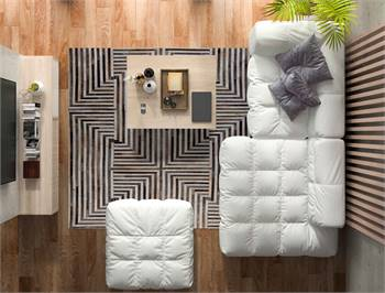 Luxury Geometric Contemporary Handmade Leather Area Rug – MAT Living