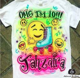 Custom Airbrush Birthday Shirts