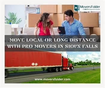 Move Local or Long Distance with Pro Movers in Sioux Falls