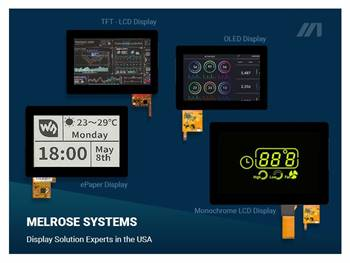 Monochrome LCD Displays from Melrose Systems
