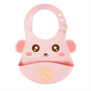 Wholesale Multi Colored Soft Food Grade Waterproof Baby Silicone Bib in Cheap Price