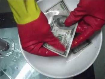 Cleaning Black Dollars Anti Breeze Notes