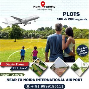 Golden Opportunity to own a Plot near Noida International Airport.Contact Hunt Property