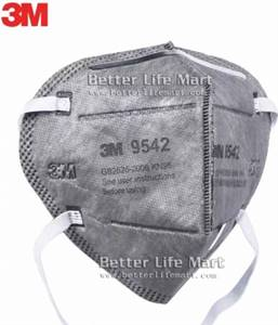 3M 9542 KN95 particulate respirator Activated Carbon face mask, 25pcs/box, clearance sale