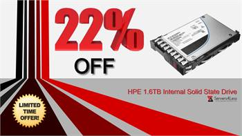 Get 22% OFF on P04533-B21 HPE 1.6TB MLC SAS 12Gbps Mixed Use 2.5-inch Internal Solid State Drive