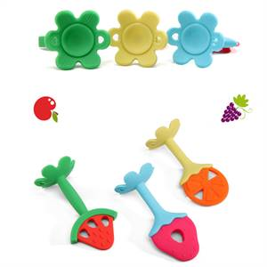 Manufacturer for High Quality Bpa Free Fruit Chewable Teether Soft Food Grade Silicone Baby Teether