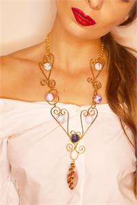 Buy Pink Stone Necklace