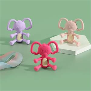 Manufacturer for High Quality Food Grade Silicone Baby Elephant Teether Non-Toxic Baby Teething Chew