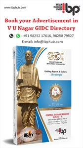 Book your advertisement Now in V-U-Nagar GIDC directory