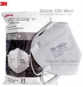 3M 9502+ KN95 Particulate Respirator Face Mask, 50pcs/bag, big sale