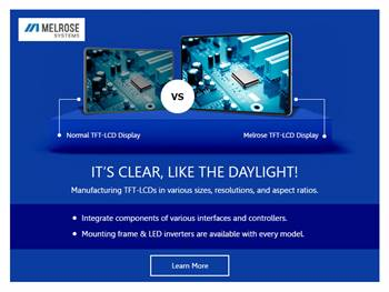 Melrose TFT-LCD Displays - The Right Choice of USA