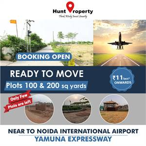 Booking open for Ready to Move plots near Noida International Airport. Contact Hunt Property.