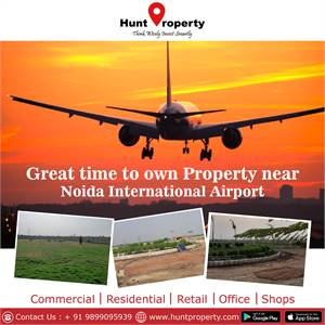 Great time to own Property near Noida International Airport.Contact Hunt Property.