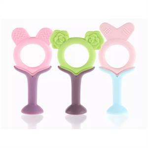 Hot Sale Safety Silicone Baby Supplies Silicone Baby Teether Fruit Toys Supplier