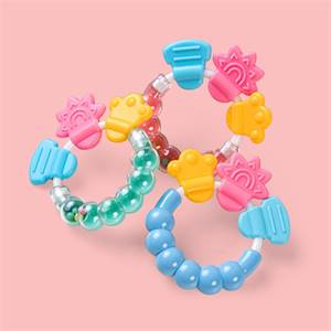 Manufacturer for High Quality Silicone Baby Rattle Teether Ring Bpa Free Baby Rattles Teething Toys