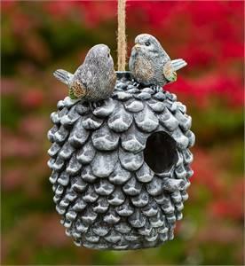 DECORATIVE HAND-PAINTED BIRD HOUSE