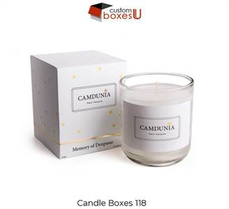 Custom Printed Personalized Branded candle packaging boxes in Texas