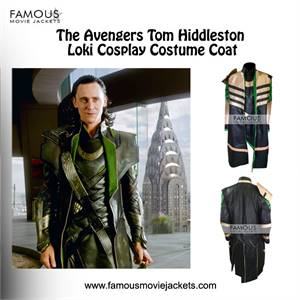 The Avengers Tom Hiddleston Loki Cosplay Costume Coat