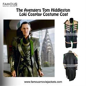The Avengers Tom Hiddleston Loki Cosplay Costume Coat