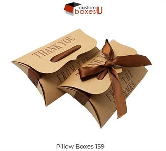 Custom pillow boxes with free logo & Design in Texas, USA