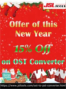 New Year Offer 2021 – 15% on JSLTools OST to PST Converter