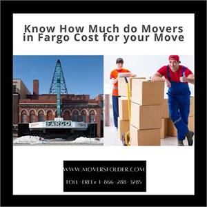 Know How Much do Movers in Fargo Cost for your Move