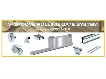 Rolling sliding gate style system from Locks4gates