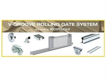 Rolling sliding gate style system from Locks4gates