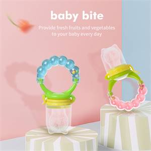 Wholesale By Customizable BPA Free Professional Baby Food-Grade Silicone food Fresh Fruit Feeder