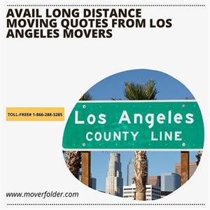Avail Long Distance Moving Quotes from Los Angeles Movers