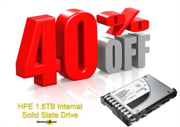 Get a 40% Discount on P04533-B21 HPE 1.6TB MLC SAS 12Gbps Mixed Use 2.5-inch SSD