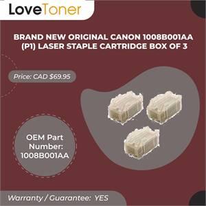 Brand New Original Canon 1008b001aa (P1) Laser Staple Cartridge Box Of 3