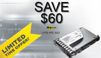 SAVE BIG $60 OFF on HPE 1.6TB P04174-003 MLC SAS 12Gbps Mixed Use 2.5-inch Internal Solid State Driv