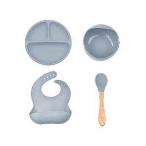 Manufacturer for Silicone Baby Feeding Set Waterproof Long Sleeve Silicone Baby Bibs Set