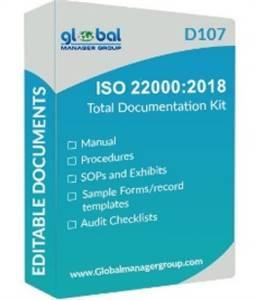 ISO 22000:2018 Certification Documentation.