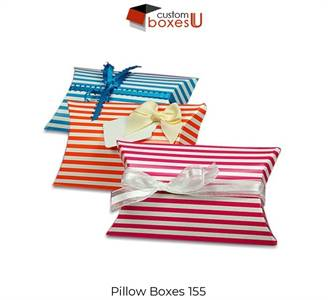 Custom pillow boxes wholesale in Texas USA
