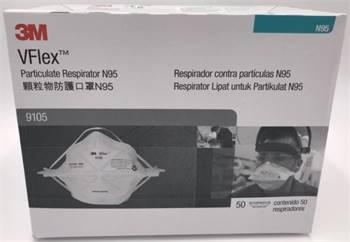 3M 9105 VFlex™ particulate respirator N95 face mask,50/box, big sale