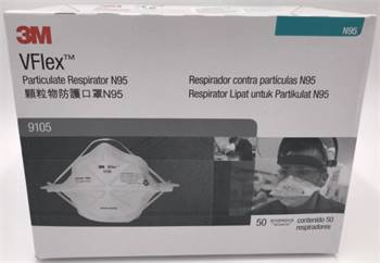 3M 9105 VFlex™ particulate respirator N95 face mask,50/box, big sale