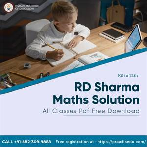Get RD Sharma Maths Solutions class-wise Free PDF Download