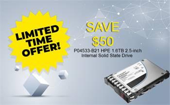 SAVE 50 on P04533-B21 HPE 1.6TB 2.5-inch Internal SSD