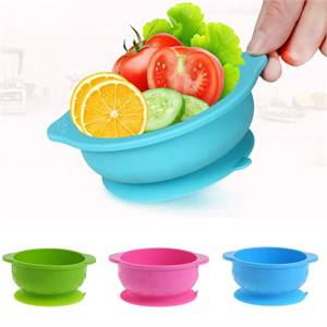 High Quality Multi-Colored Non-Toxic Waterproof Food Grade Silicone Baby Bowl and Spoon Set Trader